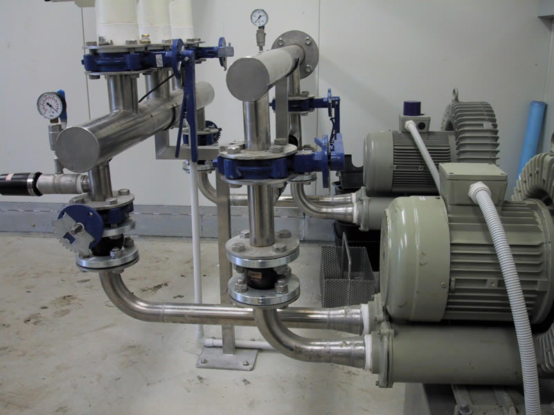 Odour Vacuum – Blowers for a WWTP