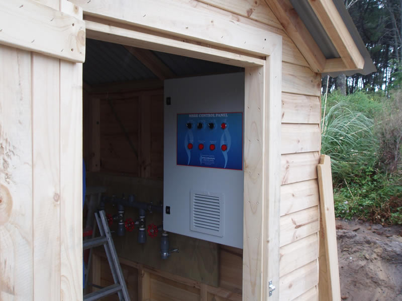 Local control panel for Opoutere Camping Ground WWTP