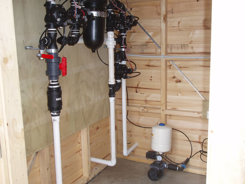 Pump and Filtration section of our MBBR WTPP, Opoutere Camping Ground